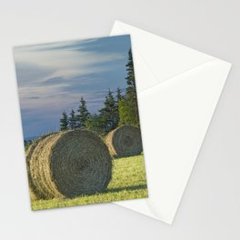Hay Bales on Prince Edward Island Stationery Cards