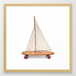 OLD OLD SCHOOL (skateboard art) Framed Art Print