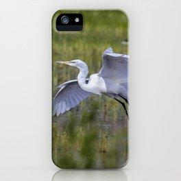 Egret in Flight iPhone Case