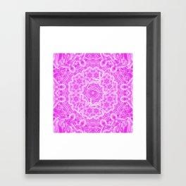 butterfly shapes on pink mandala Framed Art Print