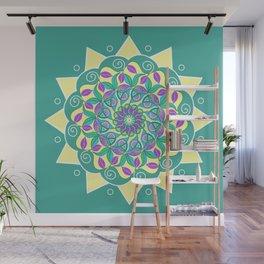 SunFlower Cool Green Wall Mural