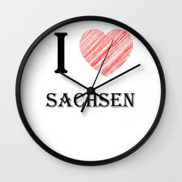 Saxony Classics. I love my favorite country. Wall Clock