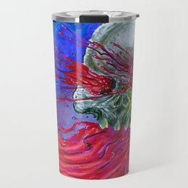 Galaxy Blood Skull Art Travel Mug