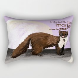 Why did the Stone Marten cross the road? Rectangular Pillow