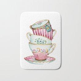 Cups watercolor Bath Mat