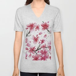 Cherry Blossoms #society6 #buyart Unisex V-Neck