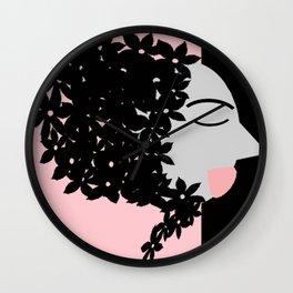 bbnyc babushka on pink Wall Clock