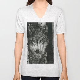 The Wolf Unisex V-Neck