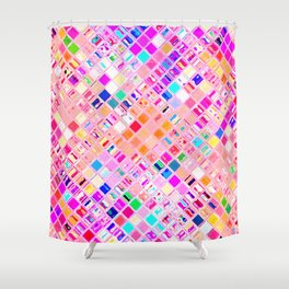 Re-Created  Mosaic No. FIFTEEN by Robert S. Lee Shower Curtain
