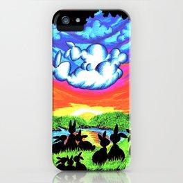cloud watching bunnies iPhone Case