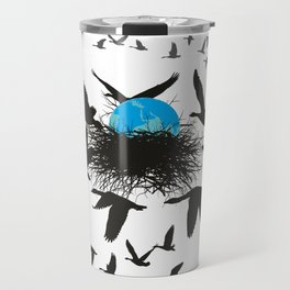 The planet earth is saved by wild geese Travel Mug