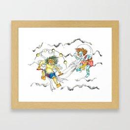 Fujin Raijin Framed Art Print