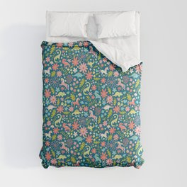 Dinosaurs + Unicorns Comforters
