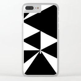 Triangles in Black and White Clear iPhone Case