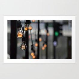 Lightbulbs in Chicago Art Print