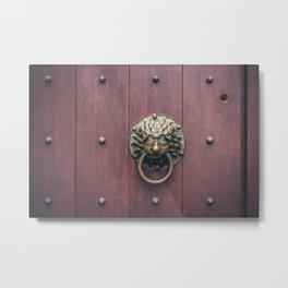 Urban minimal - Door knocker Metal Print