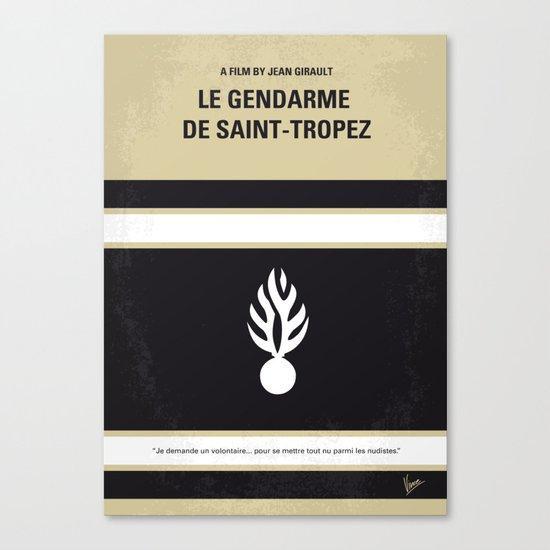 No186 My Le Gendarme de Saint-Tropez minimal movie poster Canvas Print