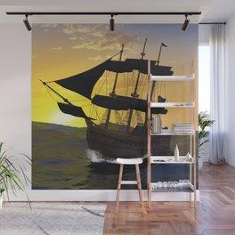 Pirate ship Wall Mural