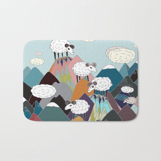 Clouds and Sheep Bath Mat