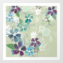 Summer blossom Art Print