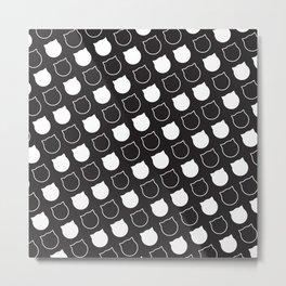 Polka Cat - Reverse Metal Print