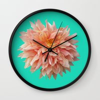 jewish Wall Clocks featuring Flower Petals by Brown Eyed Lady