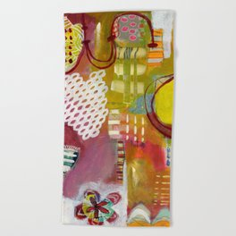 Jellyfish Garden Beach Towel