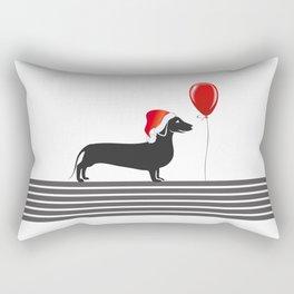 Dog With Hat Rectangular Pillow