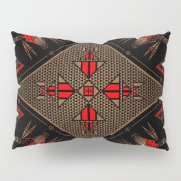 buffalo gathering Red Pillow Sham