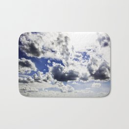 cloud-covered Bath Mat