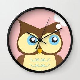 Thinking Owl Wall Clock