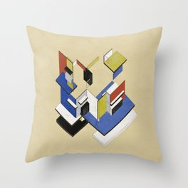 Theo van Doesburg - Contra-Construction Project (Axonometric) - Abstract De Stijl Painting Throw Pillow