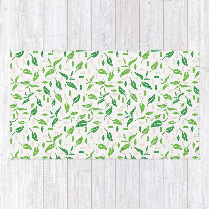 Tea Leaves Pattern Rug
