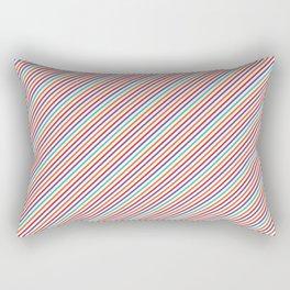 Geometrical violet red orange modern stripes pattern Rectangular Pillow