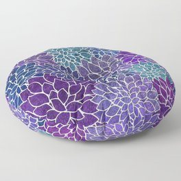 Floral Abstract 22 Floor Pillow