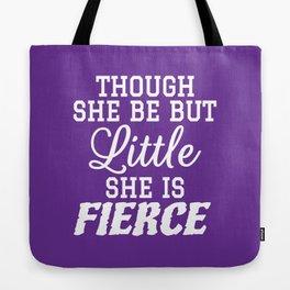 Little & Fierce (Purple) Tote Bag