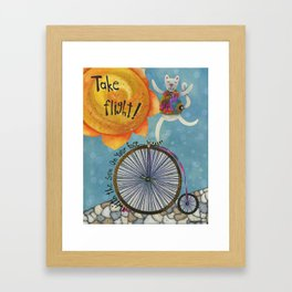 Take Flight With The Sun On Your Face Framed Art Print