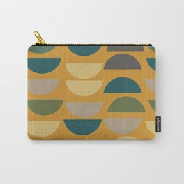 Geometric Graphic Design Shapes Pattern in Mustard Yellow Carry-All Pouch
