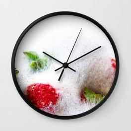 Strawberries in Focus Wall Clock