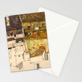 "Egon Schiele ""Old Houses in Krumau"" Stationery Cards"