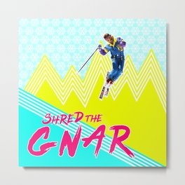 Shred the GNARski 02 Metal Print
