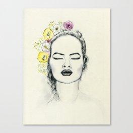 Floral Kiss Canvas Print