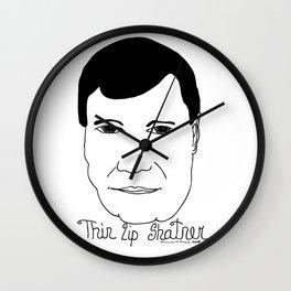 Thin Lip Shatner Wall Clock