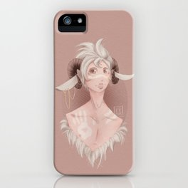 Curly horns iPhone Case
