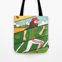 run Tote Bags featuring Run by Derek Eads