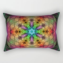 Glowing Mandala Rectangular Pillow