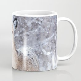 Deer In Snow Coffee Mug