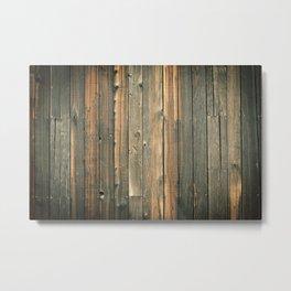 Distressed Barn Wall Wood Pattern Background Metal Print