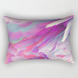 Loud Silence Glitched Fluid Art Rectangular Pillow