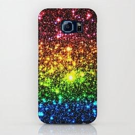 Rainbow Sparkle Galaxy Stars iPhone Case